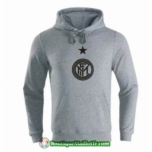 Sweat à Capuche Inter Milan 2019 2020 Gris