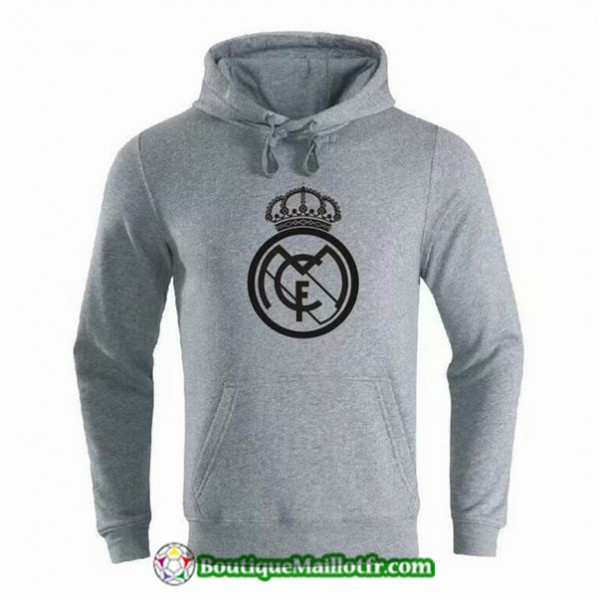Sweat à Capuche Real Madrid 2019 2020 Gris