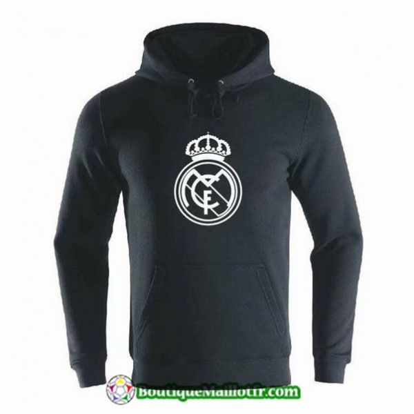 Sweat à Capuche Real Madrid 2019 2020 Noir