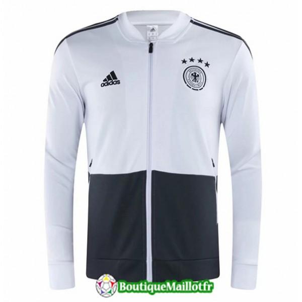 Veste De Foot Allemagne 2020 2021 Blanc/noir