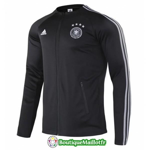Veste De Foot Allemagne 2020 2021 Noir/blanc