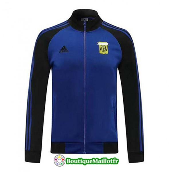 Veste De Foot Argentine 2020 2021 Bleu Noir