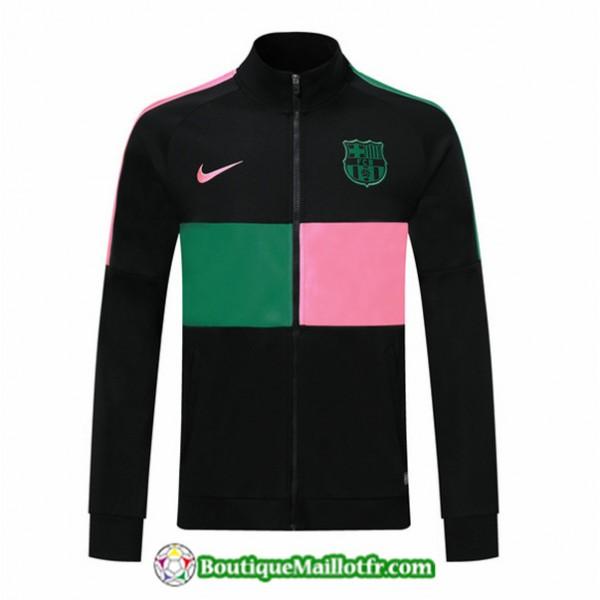 Veste De Foot Barcelone 2019 2020 Noir Rose/vert