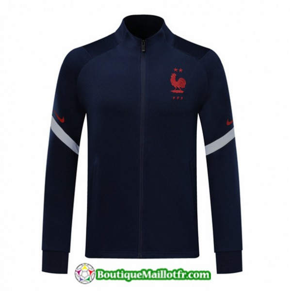 Veste De Foot France 2020 2021 Bleu Marine