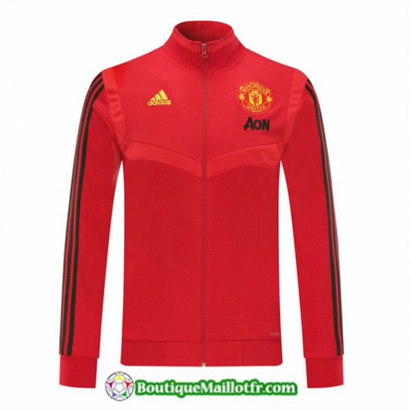 Veste De Foot Manchester United 2019 2020 Rouge/no...