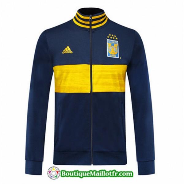 Veste De Foot Tigres 2019 2020 Bleu Marine/jaune