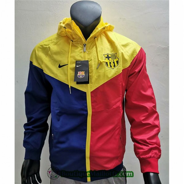Veste De Foot Barcelone 2019 2020 Coupe Vent Rouge...
