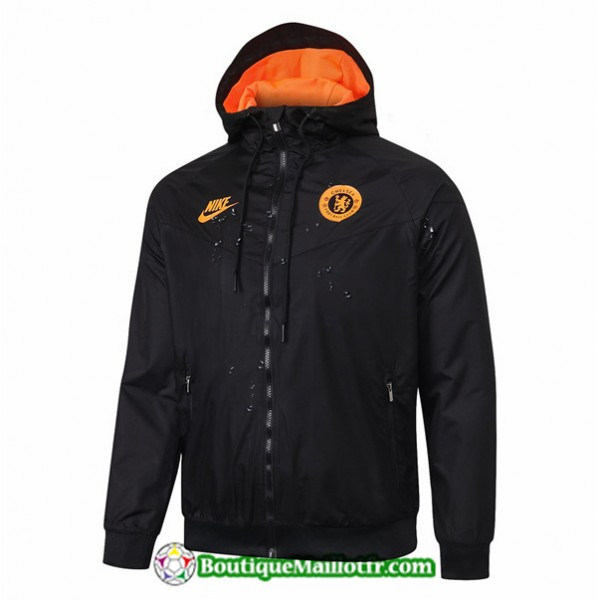 Veste De Foot Chelsea 2019 2020 Coupe Vent Noir/or...