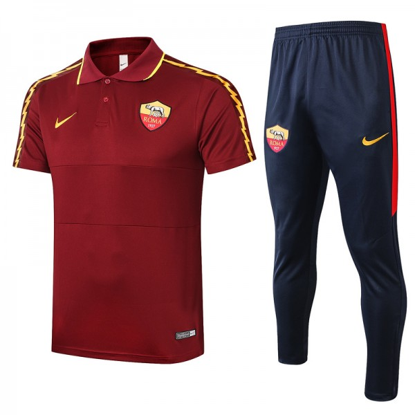 Maillot Entraînement As Roma 2020 2021 Polo Jujub...