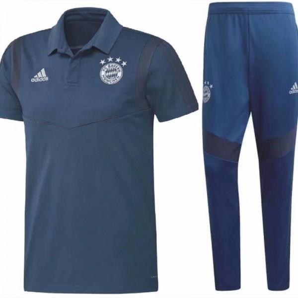 Maillot Entraînement Bayern Munich 2020 2021 Bleu...