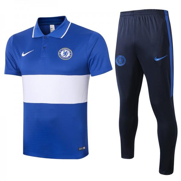 Maillot Entraînement Chelsea 2020 2021 Polo Bleu/...
