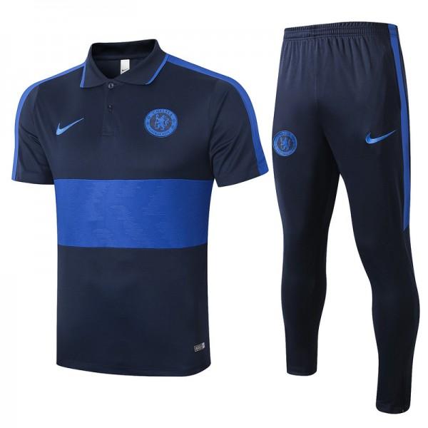 Maillot Entraînement Chelsea 2020 2021 Polo Bleu ...