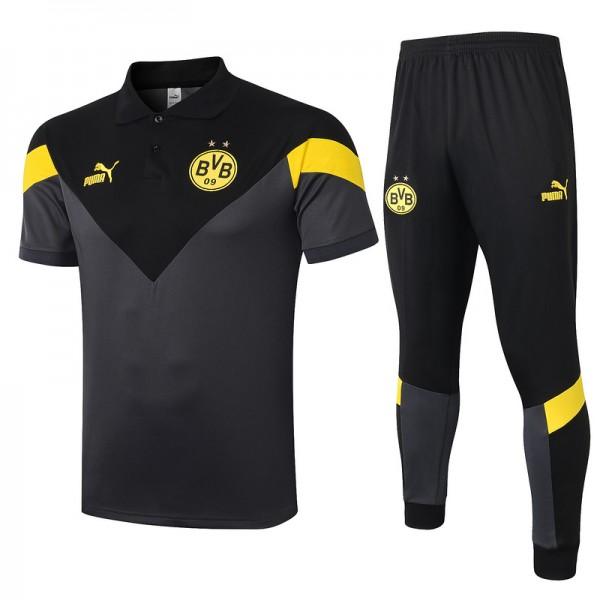 Maillot Entraînement Dortmund 2020 2021 Polo Gris...