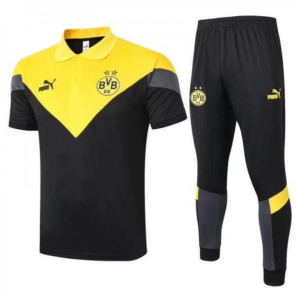 Maillot Entraînement Dortmund 2020 2021 Polo Jaun...