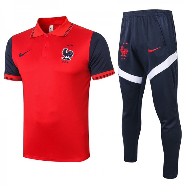Maillot Entraînement France 2020 2021 Polo Rouge