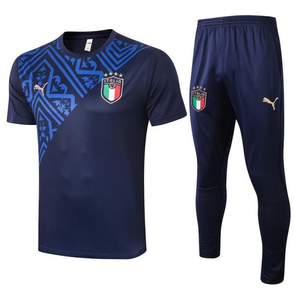 Maillot Entraînement Italie 2020 2021 Bleu Marine...