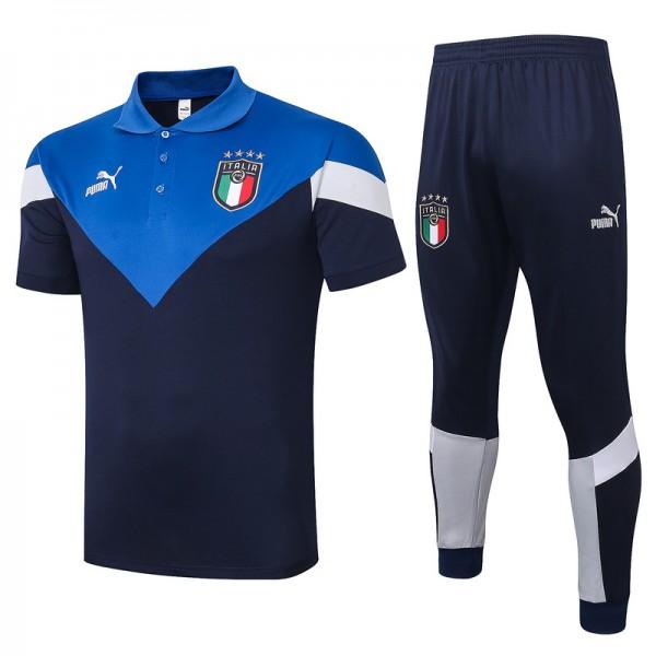Maillot Entraînement Italie 2020 2021 Polo Bleu