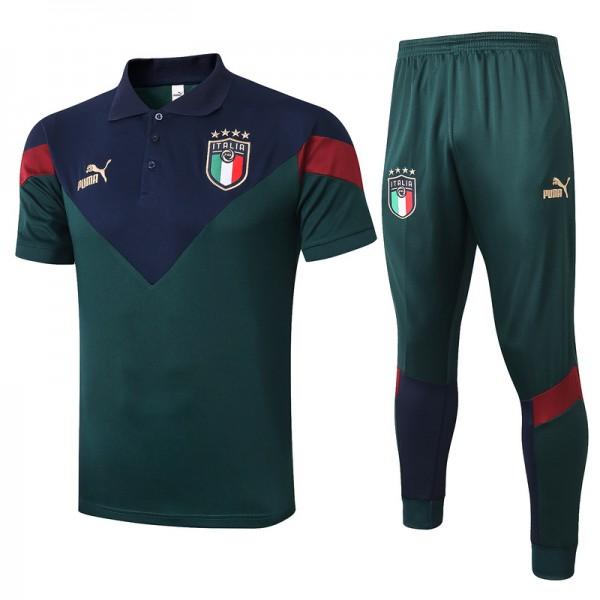 Maillot Entraînement Italie 2020 2021 Polo Vert N...