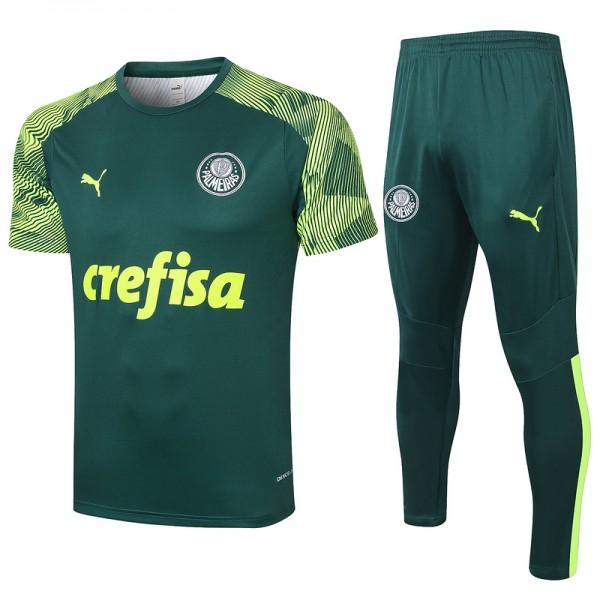 Maillot Entraînement Palmeiras 2020 2021 Vert Fon...