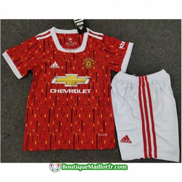 Maillot Manchester United Enfant 2020 2021 Domicil...