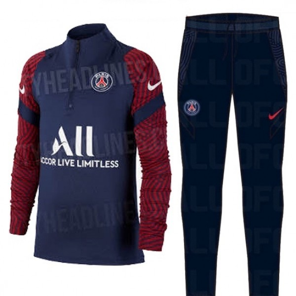 Survetement Paris Saint Germain 2020 2021 Bleu Mar...