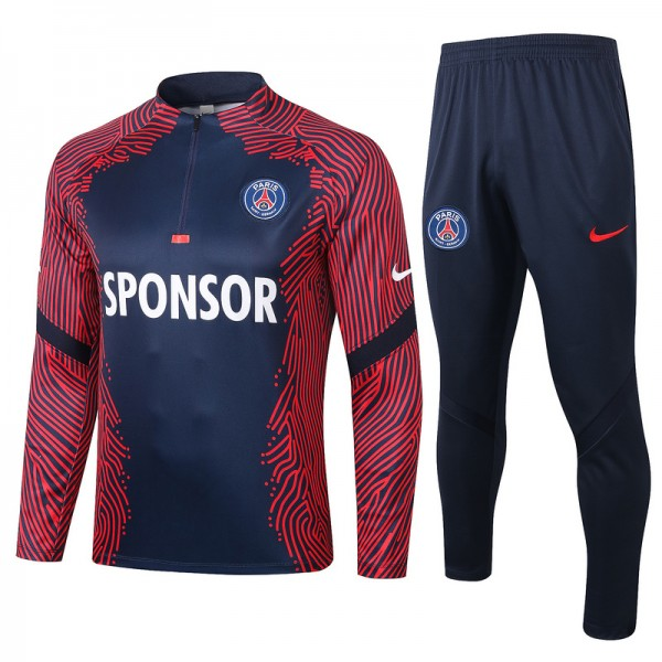 Survetement Paris Saint Germain 2020 2021 Rouge/bl...