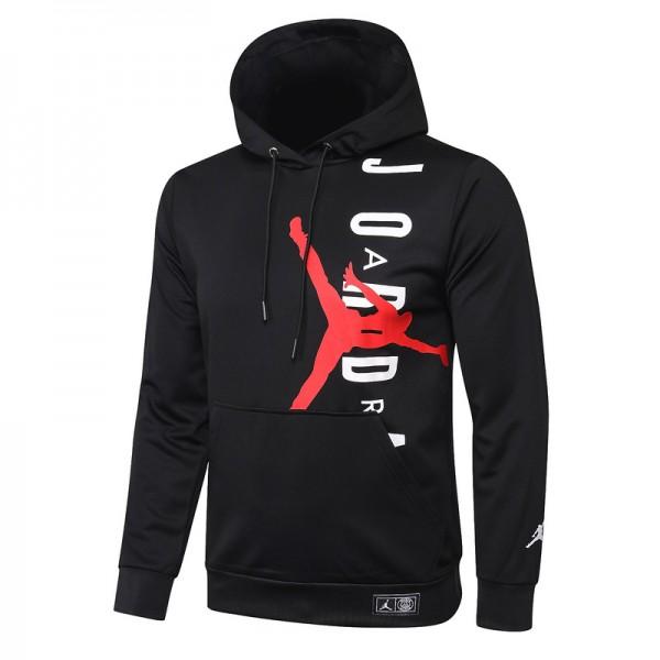 Sweat à Capuche Psg Jordan 2020 2021 Noir / Rouge