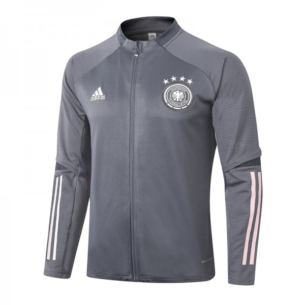 Veste De Foot Allemagne 2020 2021 Gris Foncé