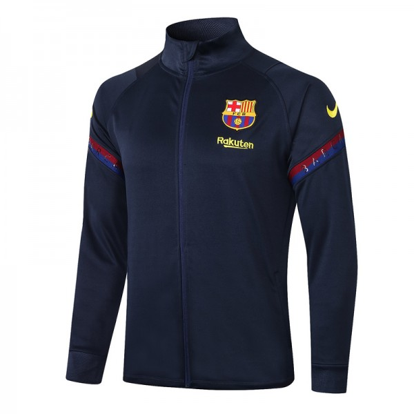 Veste De Foot Barcelone 2020 2021 Bleu Marine