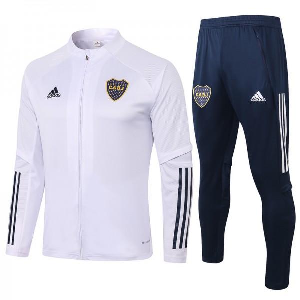 Veste Survetement Boca Juniors 2020 2021 Blanc
