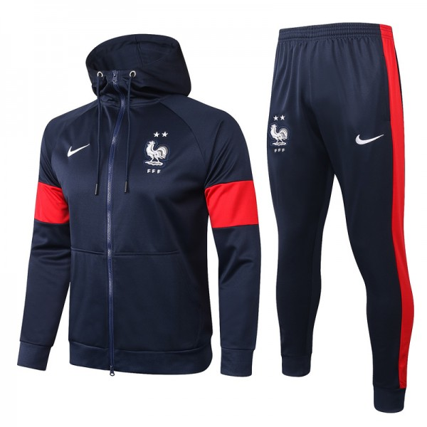 Veste Survetement France 2020 2021 Bleu Marine A C...