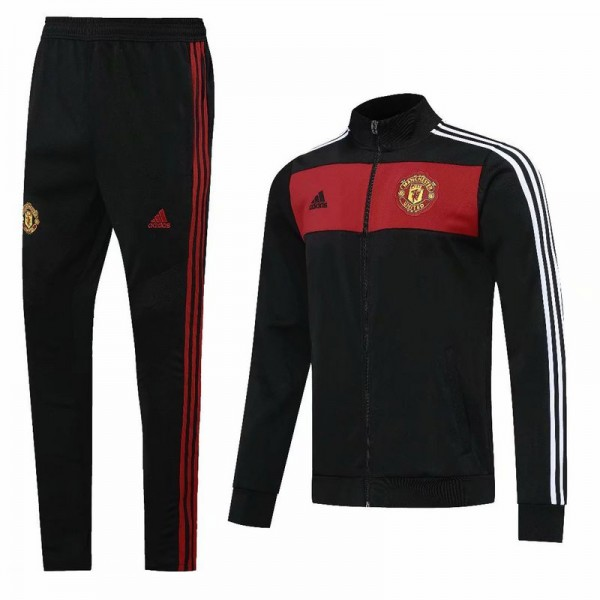 Veste Survetement Manchester United 2020 2021 Noir...