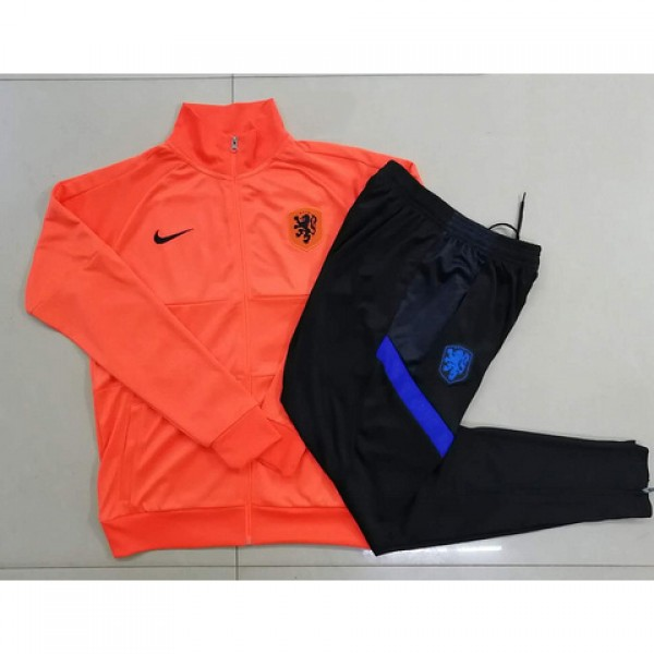 Veste Survetement Pays Bas Enfant 2020 2021 Orange