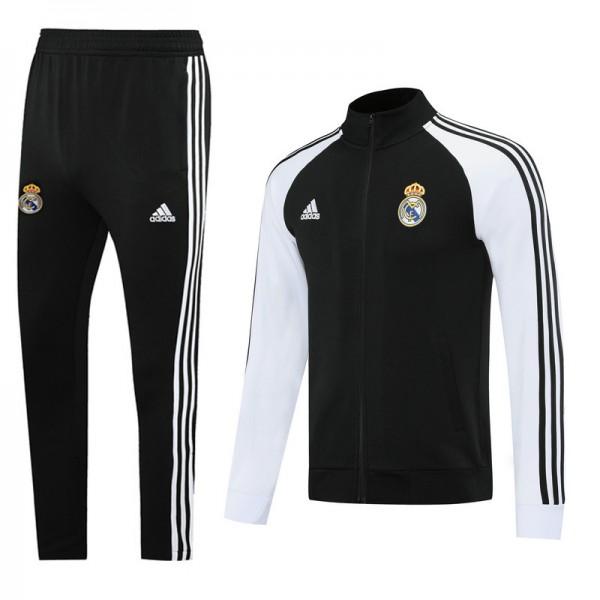 Veste Survetement Real Madrid 2020 2021 Noir/blanc