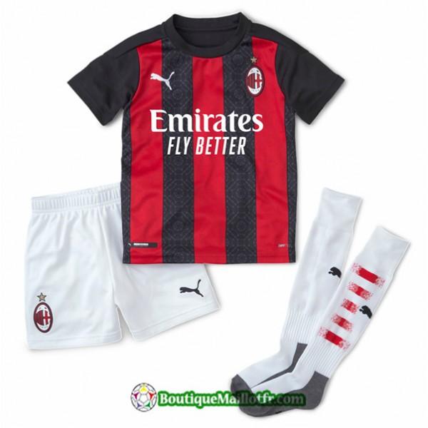 Maillot Ac Milan Enfant 2020 2021 Domicile