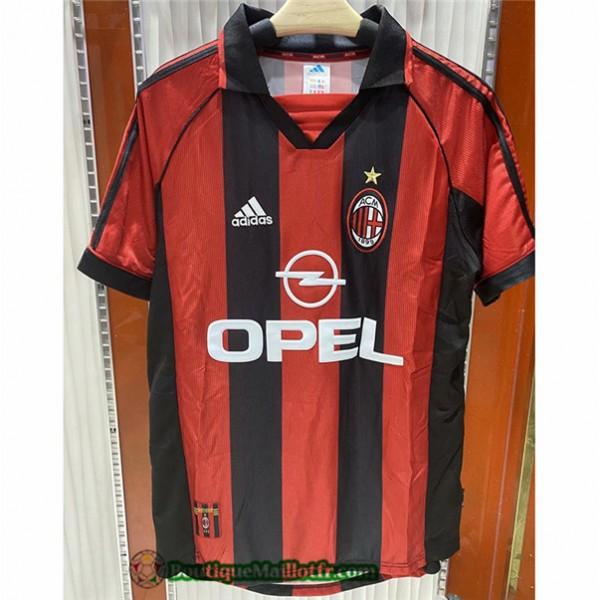Maillot Ac Milan Retro 1998 00 Domicile