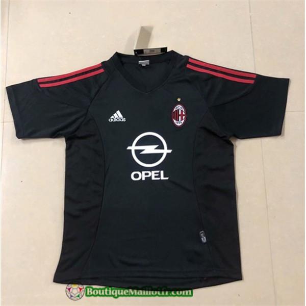 Maillot Ac Milan Retro 2002 03 Exterieur Champions...