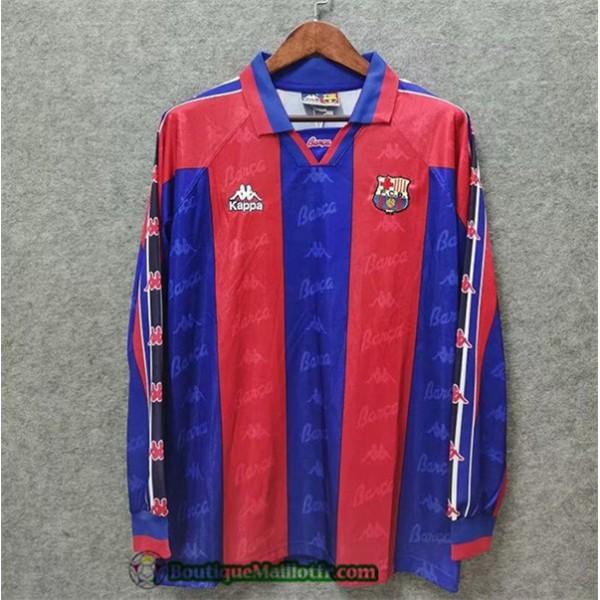 Maillot Barcelone Retro 1996 97 Domicile Manche Lo...