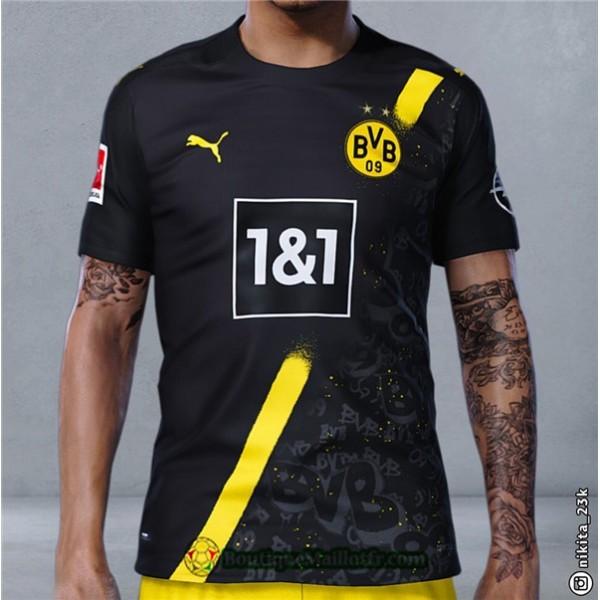 Maillot Borussia Dortmund 2020 2021 Exterieur Noir