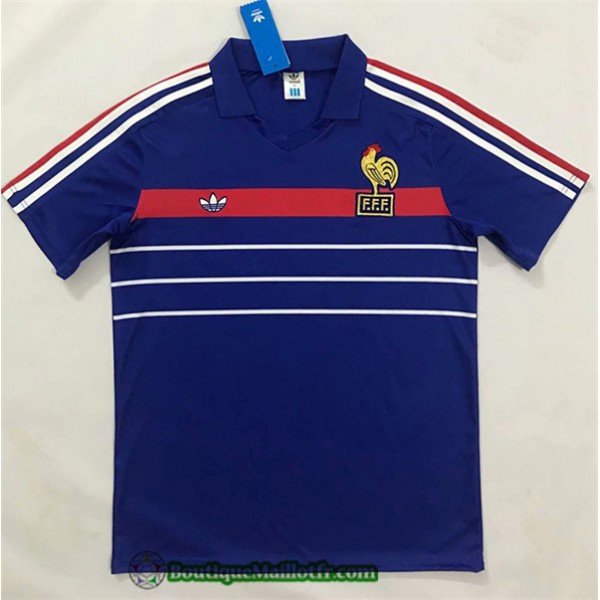 Maillot France Retro 1984 1986 Domicile European C...