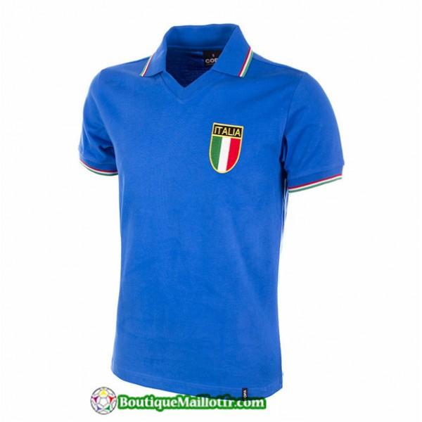 Maillot Italie Retro 1982 Bleu