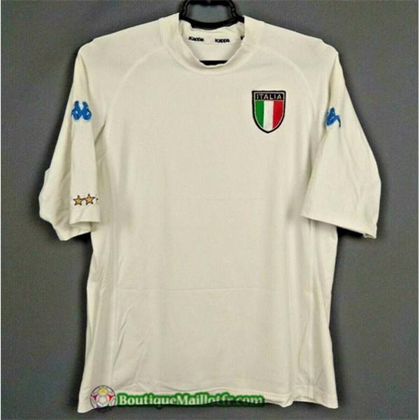 Maillot Italie Retro 2000 Exterieur Blanc