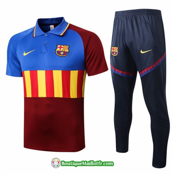 Maillot Kit Entraînement Barcelone 2020 2021 Polo...