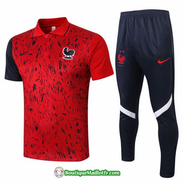 Maillot Kit Entraînement France 2020 2021 Polo Tr...