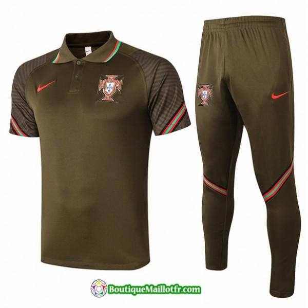 Maillot Kit Entraînement Portugal 2020 2021 Polo ...