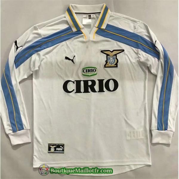 Maillot Lazio Retro 2000 01 Exterieur Manche Longu...