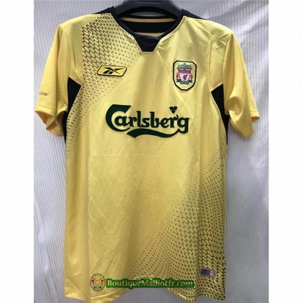 Maillot Liverpool Retro 2004 05 Jaune