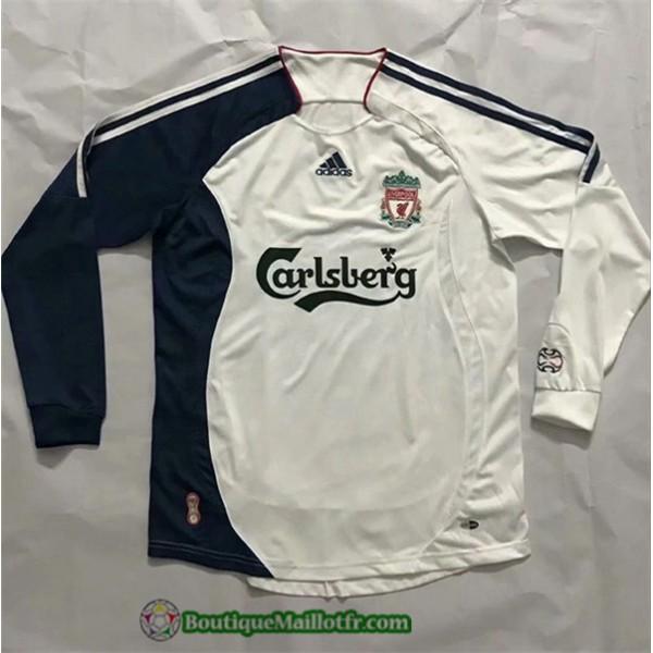 Maillot Liverpool Retro 2006 07 Exterieur Manche L...