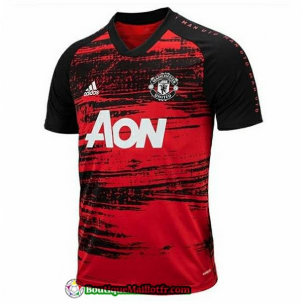 Maillot Manchester United 2020 2021 Training Rouge