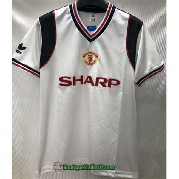Maillot Manchester United Retro 1985 Exterieur Bla...